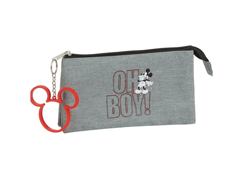 Disney Mickey Mouse Etui Oh Boy - 22 cm - Gris