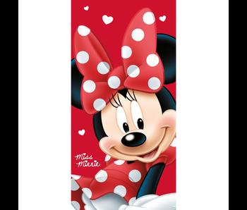 Disney Minnie Mouse Big Red - Serviette de plage 70 x 140 cm