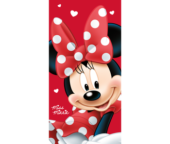 Disney Minnie Mouse Strandlaken Big Red - 70 x 140 cm