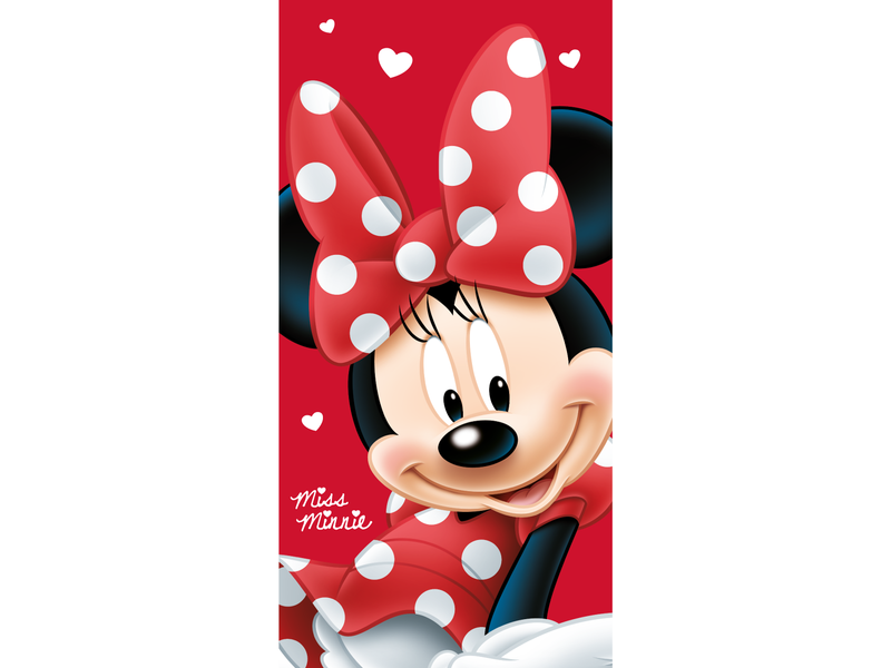 Disney Minnie Mouse Big Red - Strandtuch - 70 x 140 cm - Rot