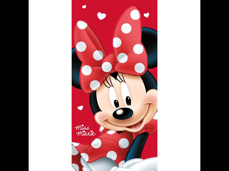 Disney Minnie Mouse Strandlaken Big Red - 70 x 140 cm - Rood