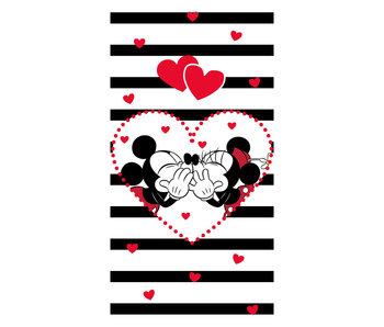 Disney Minnie & Mickey Mouse Kiss - Beach towel 70 x 140 cm