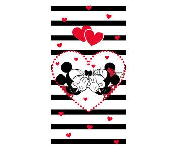Disney Minnie & Mickey Mouse Kiss - Strandtuch 70 x 140 cm