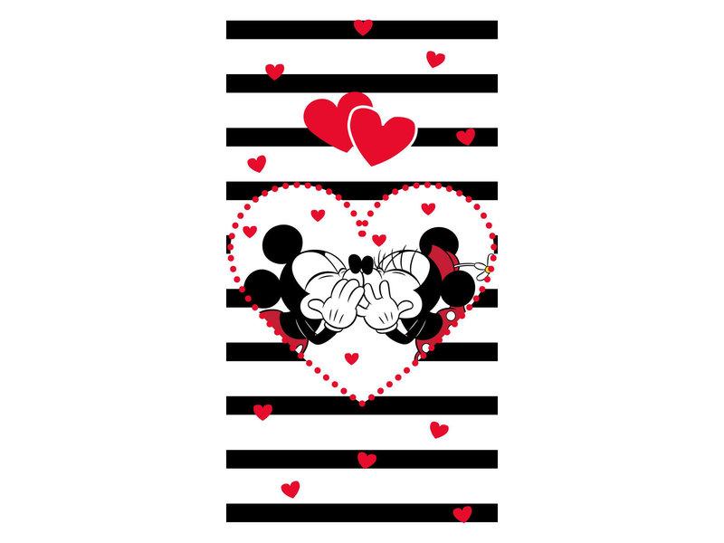 Disney Minnie & Mickey Mouse Kiss - Serviette de plage - 70 x 140 cm - Multi