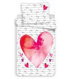 Valentines Housse de couette Love - Unique - 140 x 200 cm - Coton