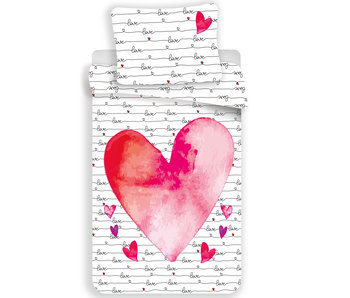 Valentines Housse de couette Love 140 x 200 cm