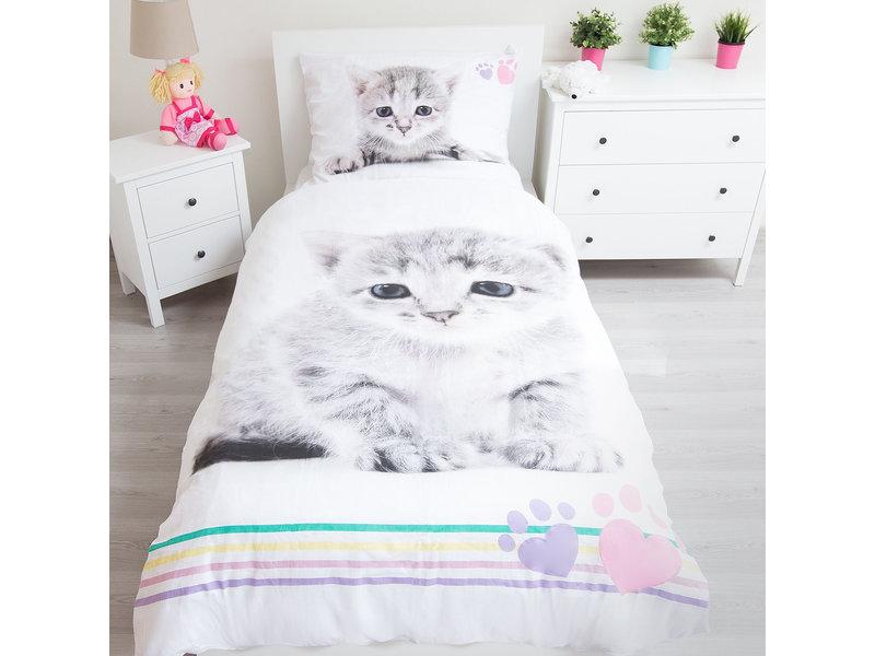 Animal Pictures Kitten Dekbedovertrek - Eenpersoons - 140 x 200 cm - Katoen