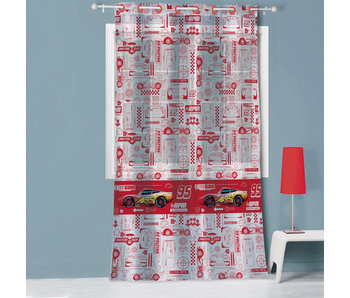 Disney Cars Curtain / Vitrage Competition 100% Polyester 140 x 240 cm