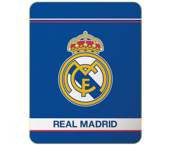 Real Madrid Couverture polaire Logo 110 x 140 cm