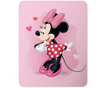 Disney Minnie Mouse Fleecedecke Herzen 110 x 140 cm