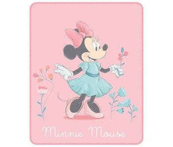 Disney Minnie Mouse Couverture polaire Fleur 110 x 140 cm