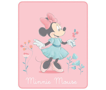 Disney Minnie Mouse Fleeceplaid Fleur 110 x 140 cm