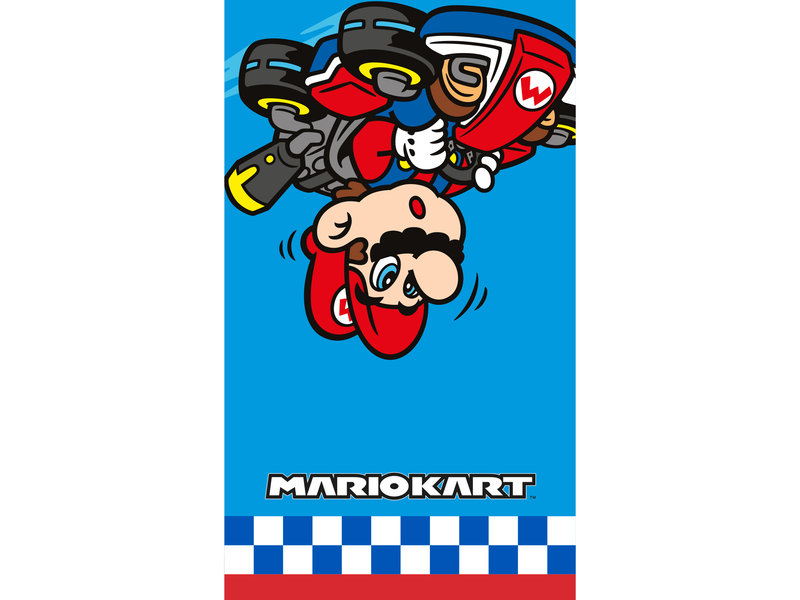 Mario Kart Strandtuch Winner - 70 x 120 cm - Blau