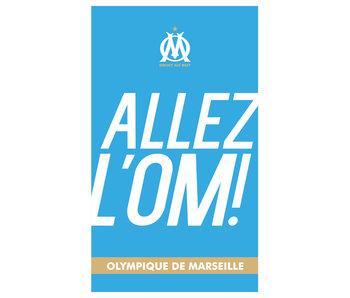 Olympique Marseille Serviette de plage Allez - 70 x 120 cm