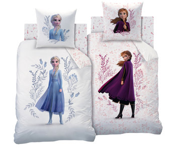 Disney Frozen Bettbezug Blumen Baumwolle 140x200cm + 63x63cm
