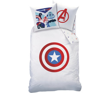 Marvel Avengers Bettbezug Shield Baumwolle 140 x 200 cm