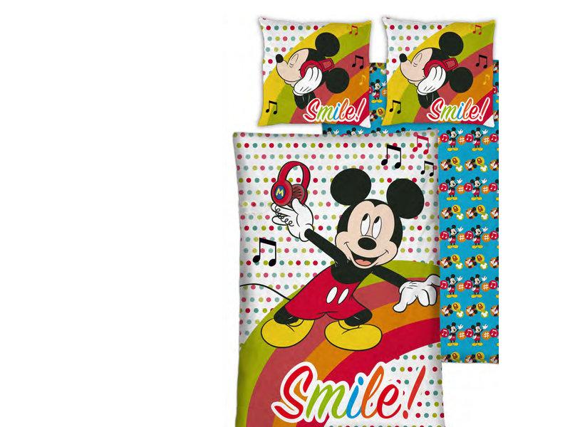 Disney Mickey Mouse Dekbedovertrek - Eenpersoons - 140 x 200 cm - Polyester