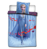 Disney Frozen Bettbezug Anna Elsa Leaves - Single - 140 x 200 cm - Multi