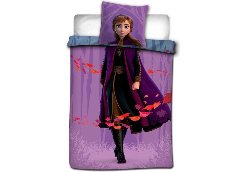 Disney Frozen Dekbedovertrek Anna Elsa Leaves - Eenpersoons - 140 x 200 cm - Multi