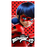 Miraculous Lady Bug - Strandtuch - 70 x 140 cm - Rot