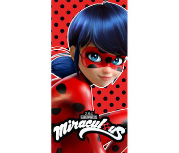 Miraculous Beach towel Lady Bug cotton 70x140cm