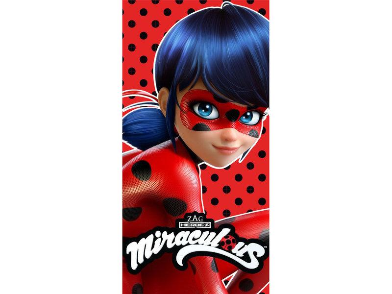 Miraculous Lady Bug - Beach towel - 70 x 140 cm - Red