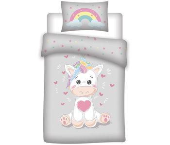 Unicorn Regenboog baby dekbedovertrek 100 x 135 cm
