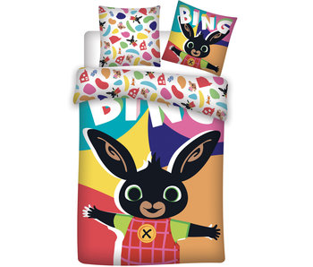 Bing Bunny Happy baby dekbedovertrek 100 x 135 cm