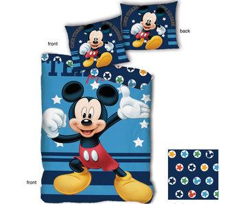 Disney Mickey Mouse Dekbedovertrek Stars 140x200cm + 65x65cm