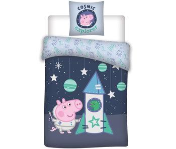 Peppa Pig Baby dekbedovertrek raket 100 x 135 cm