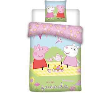 Peppa Pig With friends baby dekbedovertrek 100 x 135 cm