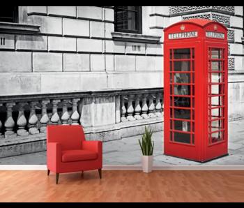 Londen Fotobehang Phone Booth - 366 x 253 cm
