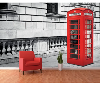 Londen Wall Mural Phone Booth - 366 x 253 cm