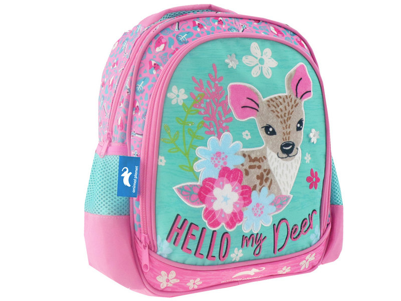 Animal Planet Deer backpack - 31 x 27 x 10 cm - Pink