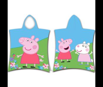 Peppa Pig Peppa pig and Suzy Sheep badponcho