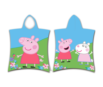 Peppa Pig Peppa pig en Suzy Sheep badponcho