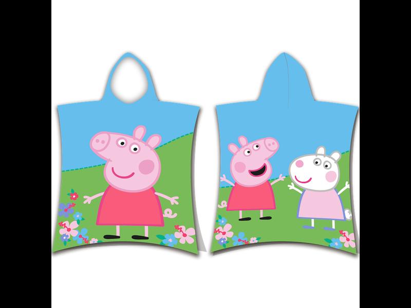 Peppa Pig and Suzy Sheep bath poncho - 50 x 115 cm - Multi