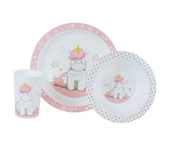 Unicorn Set petit déjeuner 3 pièces