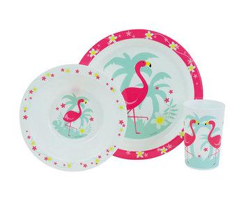 Flamingo Frühstücksset 3 Stück