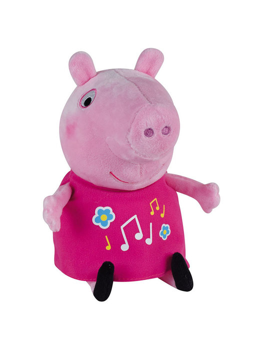Peppa Pig Knuffel, lichtgevend en met muziek 25 cm