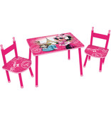 Disney Minnie Mouse Table and chairs / Sitting area Paris - Pink