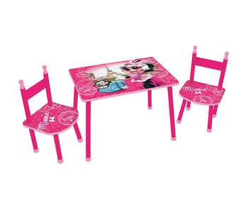 Disney Minnie Mouse Tafel en stoeltjes/Zithoekje Parijs