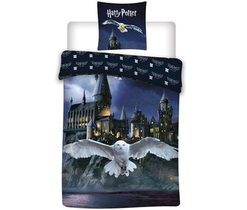 Harry Potter Bettbezug Hedwig 140x200 + 65x65cm Flanell