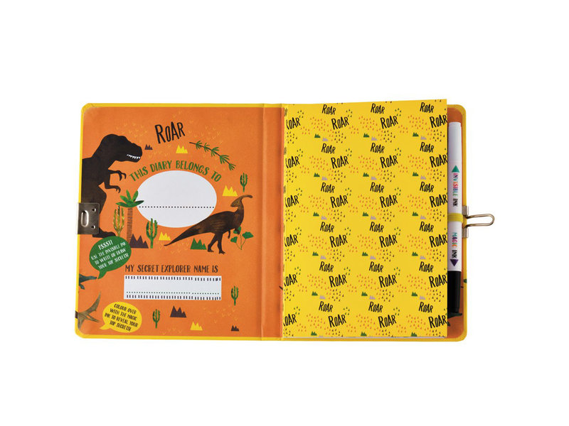 Floss & Rock Dinosaur Diary - Includes Lock and Pen - Multi
