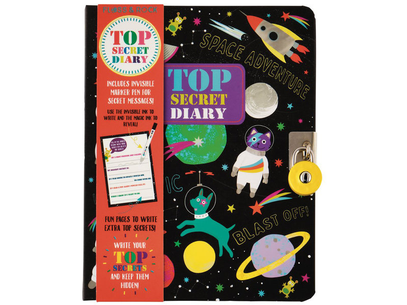 Floss & Rock Space Diary - Includes Lock and Pen - Multi