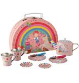 Floss & Rock Floss & Rock Fairy Unicorn 9 pièces Service à thé en étain dans un étui