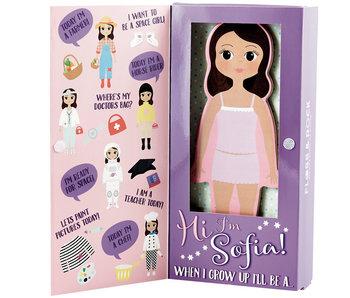 Floss & Rock Magnetic Dress up Puppe Sofia