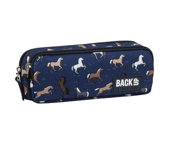 Back Up Pencil case Horses 22 cm