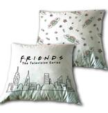 Friends Coussin Skyline - 35 x 35 cm - Blanc