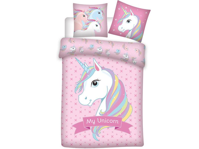 Unicorn Dekbedovertrek - 140 x 200 cm - Polyester